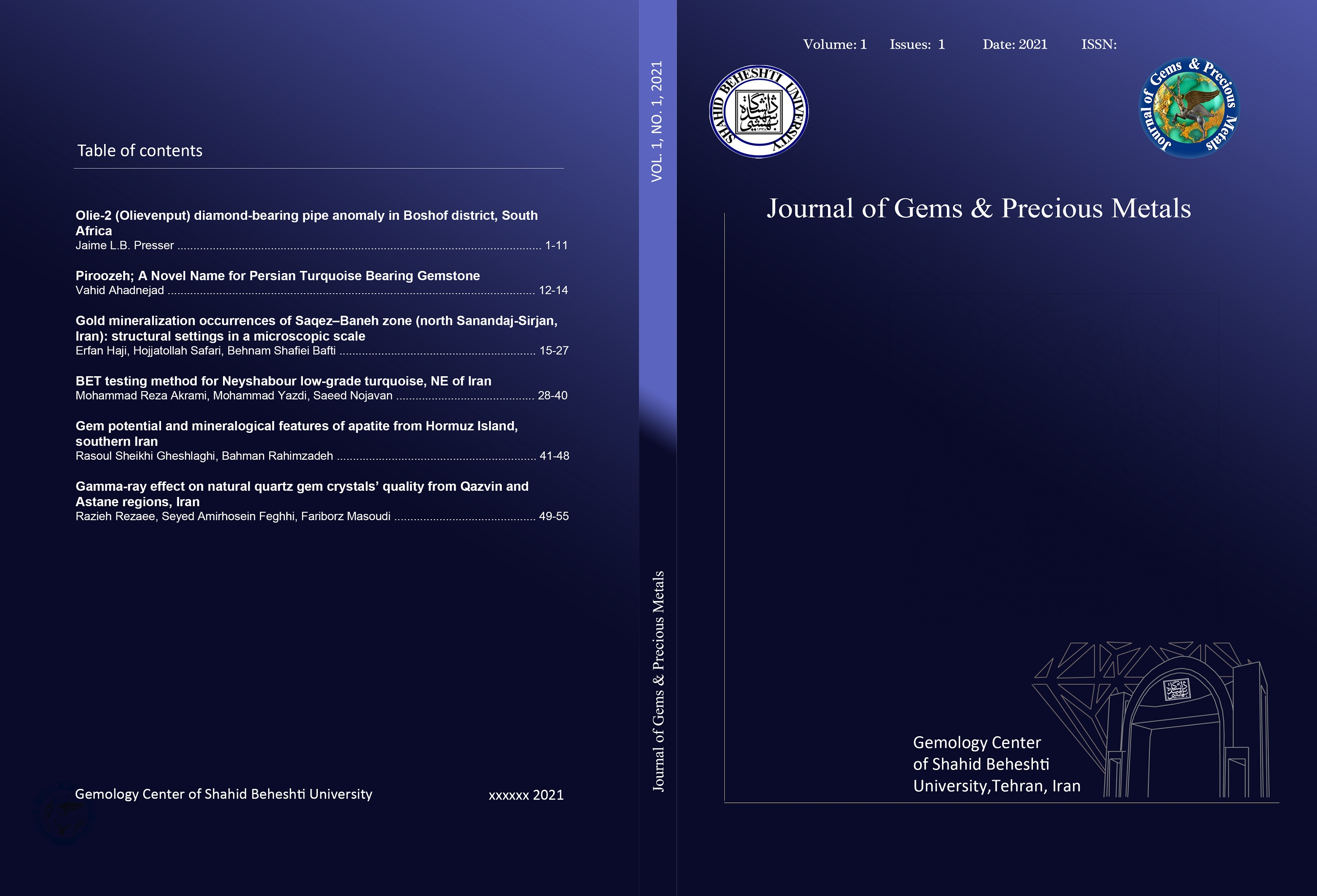 Journal of Gems And Precious Metals